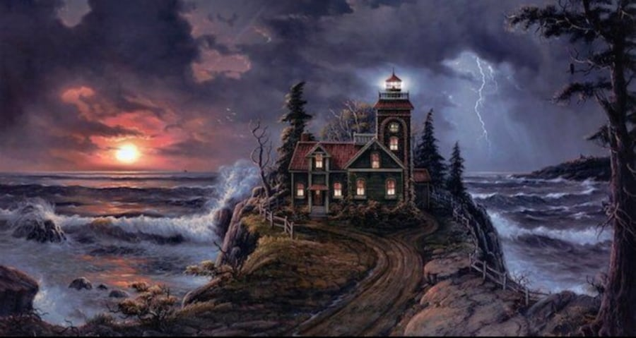 Limited Edition by Jesse Barnes - Lighthouse Cove Mint condition. 497470fa-cca5-47e8-af1e-f37b0eb020b1
