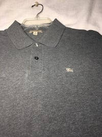 BURBERRY Grey Long Sleeve Polo With Logo US XL / EU 56 /  Laurel, 20723