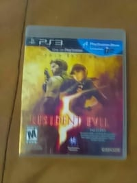 Resident Evil PS3 game case