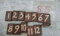 Wooden table numbers Ottawa, K1Z 7P9