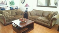 brown fabric 2 piece sofa set. Tables not included Fontana, 92336
