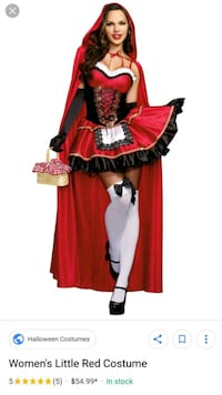 Little Red Riding Hood Sexy Woman Costume Monroe, 10950