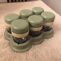 Magic Bullet Baby Bullet Food Container 6 Date Dial Storage Cups with Lid & Tray Haverhill, 01832