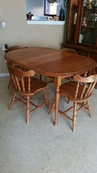 Solid Wooden Table wth Chairs