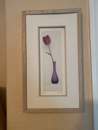 Purple tulip picture with white wash frame Vacaville, 95687