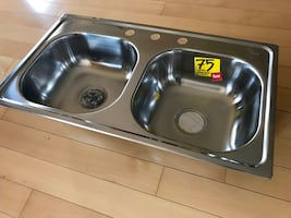 Brand New Teka Kitchen Double Bowl Stainless Steel Sink