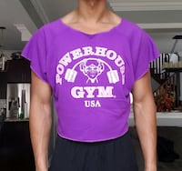 Powerhouse Gym Vintage Muscle Top Tank Top Purple Size L Newmarket
