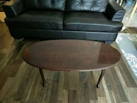 round brown wooden coffee table Edmonton, T5N 1N5