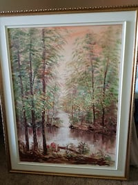 brown wooden framed painting of trees Aspen Hill, 20906