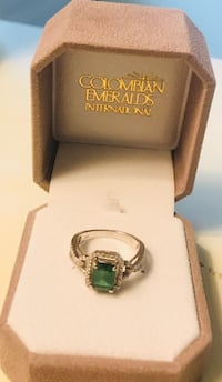 International Colombian Emerald. Genuine Emerald NOT LAB CREATED. With genuine diamonds. Purchased on cruise to Bermuda in October.  Lunenburg, 01462