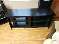 brown wooden TV stand with shelf 3717 km