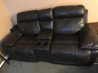 Brown leather 3-seat recliner sofa and love seat  Stoney Creek, L8E 4E1