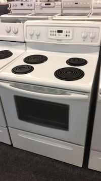 white and black 4-coil electric range oven Toronto, M3J 3K7