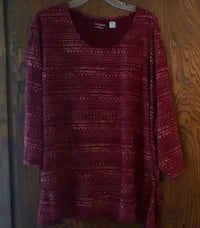 Never Worn Red and purple scoop-neck sweater Metairie, 70003