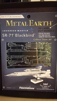 Metal earth SR-71 Blackbird 3-D laser cut model Bridgewater, 08807