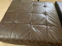 Big brown leather ottoman lightly used