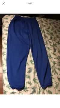 HILL Blue Fleece Workout/Track Pants Size MEDIUM Made In U.S.A. London, N6G 2Y8
