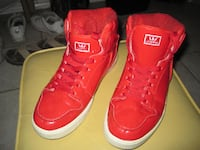 Supra Patent Red Hi-Top Vaider Shoes - Size 8.5 Winnipeg