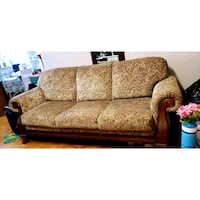 brown and white floral sofa Toronto, M1J 2G8