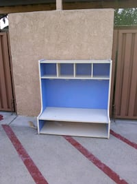 blue and white wooden TV hutch Thousand Oaks, 91360