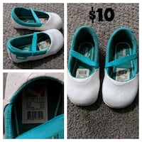 pair of white-and-teal shoes London, N5Z 0A5