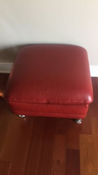red leather padded rolling armchair Oakville, L6M 0A8