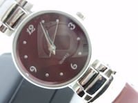 "Outstanding ""deep red"" dial face quartz ladies wrist watch. OLYMPIA"