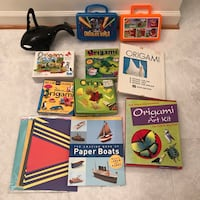 Origami paper books and planes toys with collectible lunch boxes  Burtonsville, 20866
