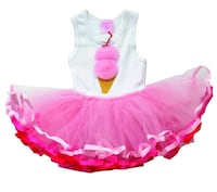 baby's pink and white tutu dress Sterling, 06354