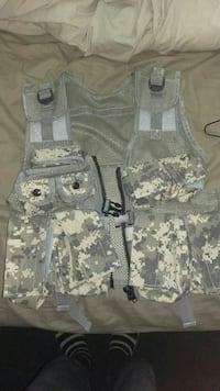 gray and white digital camouflage vest Mesa, 85205