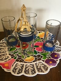 From France 4 shot-glasses with 1 Paris Keychain as free gift / Come visit  for more  Alexandria, 22311