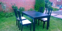 Dining table and chairs. Toronto, M8Y 3H5