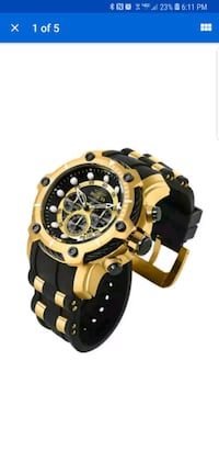 New Black & Gold Invicta Watch Washington, 20001