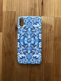 iPhone 10 X phone case - chinoiserie, Blue and white, hard case Mount Juliet, 37122