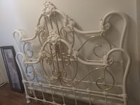 white and brass headboard frame Kansas City, 64132