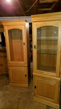 Solid Oak Armoire  & 2 Display Cases  Middletown, 21769