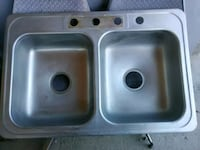 stainless steel double sink with out faucet El Paso