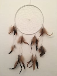 white, brown, and black feathered dreamcatcher Murrieta, 92562