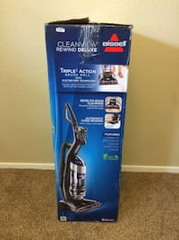 blue Bissell upright vacuum cleaner box 2059 mi