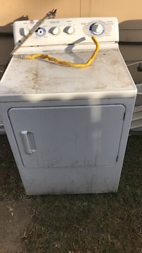 White front-load clothes dryer