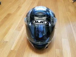 Used HJC Motorcycle Helmet Size XS. Size runs larger than normal.
