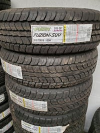 New 215/70R16 Fuzion SUV Tires