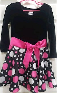 Black / Pink / White Dress Size 4 T Children Beaut Henderson, 89074