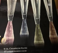 6 oz. champagne flutes set of four colors Gaithersburg, 20877