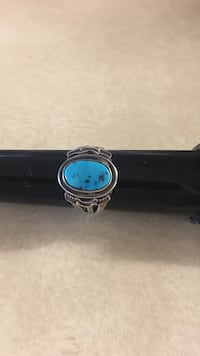 Brand New SS Navajo Turquoise Ring Cottonwood, 86326