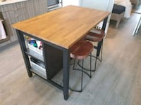 Kitchen island, Ikea stenstorp with chairs  Toronto, M5T 2H5
