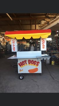 Very Clean Food Cart Ready to make money 1 fryer 1 flat iron 1 heater