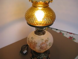DOUBLE GLOBE PARLOUR TABLE or DESK LAMPS A-1!
