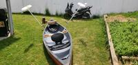Old town canoe guide 147 with outriggers and motor