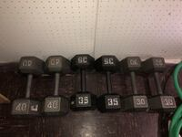black and gray fixed weight dumbbells Woodbridge, 22192